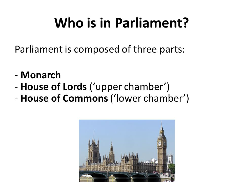 Who is in Parliament.