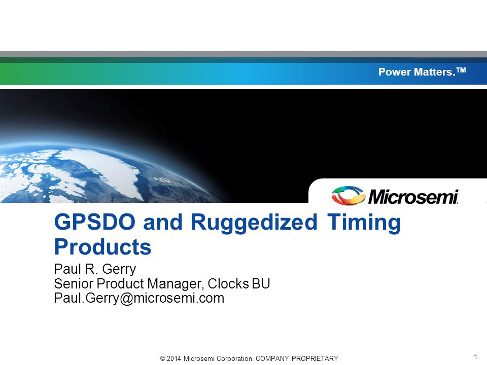 GPSDO and Ruggedized Timing Products