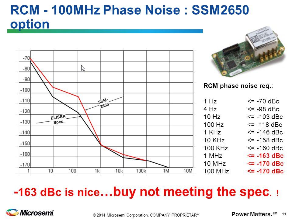 RCM - 100MHz Phase Noise : SSM2650 option