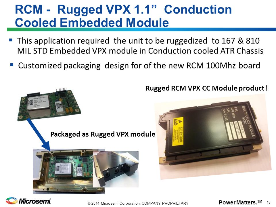 RCM - Rugged VPX 1.1 Conduction Cooled Embedded Module