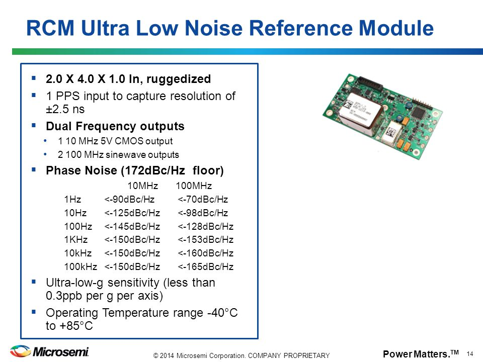 RCM Ultra Low Noise Reference Module