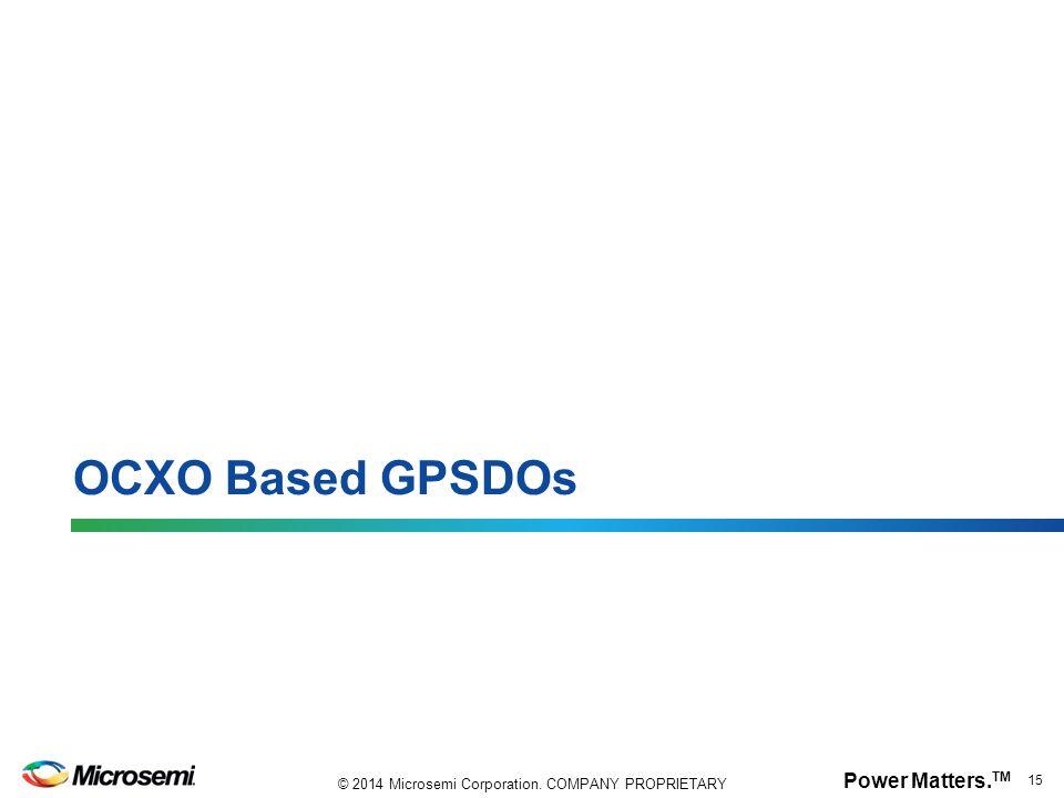 OCXO Based GPSDOs