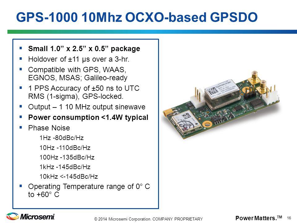 GPS-1000 10Mhz OCXO-based GPSDO