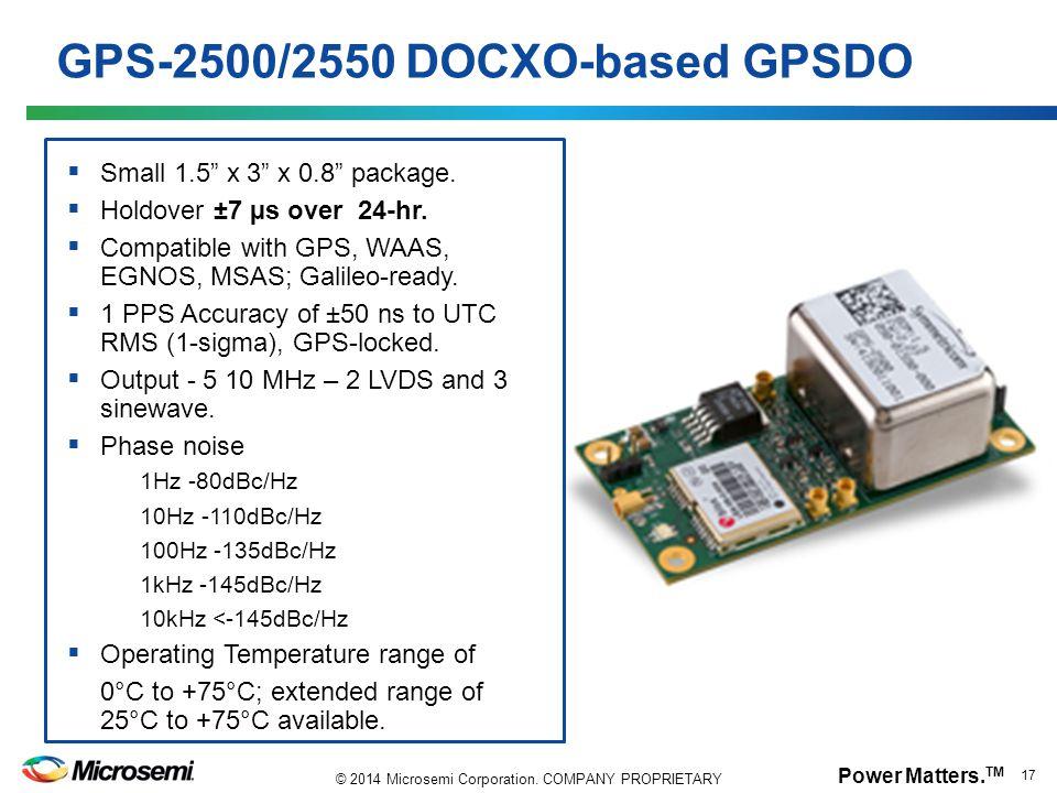 GPS-2500/2550 DOCXO-based GPSDO