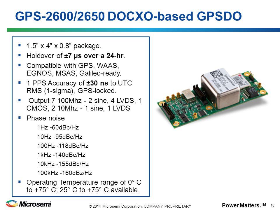 GPS-2600/2650 DOCXO-based GPSDO