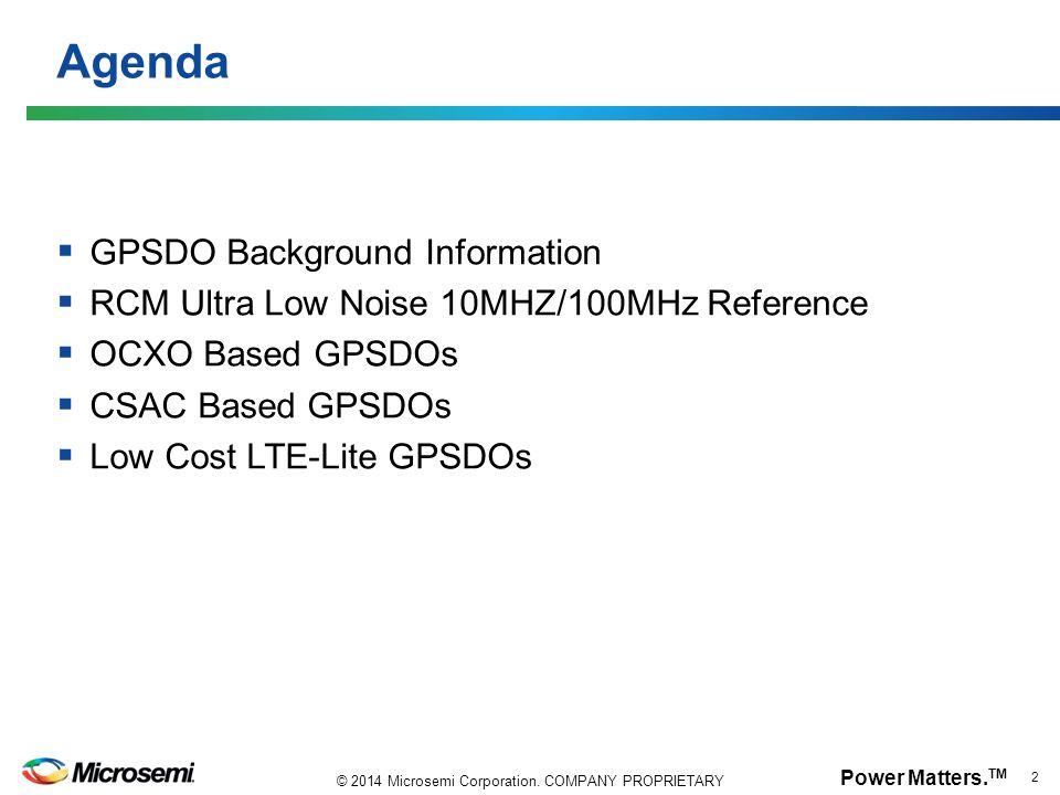 Agenda GPSDO Background Information