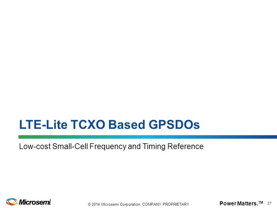 LTE-Lite TCXO Based GPSDOs