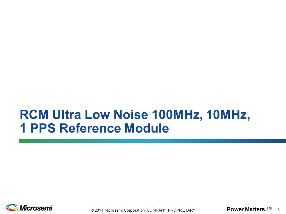 RCM Ultra Low Noise 100MHz, 10MHz, 1 PPS Reference Module