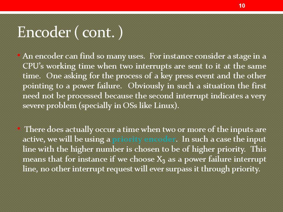 Encoder ( cont. )