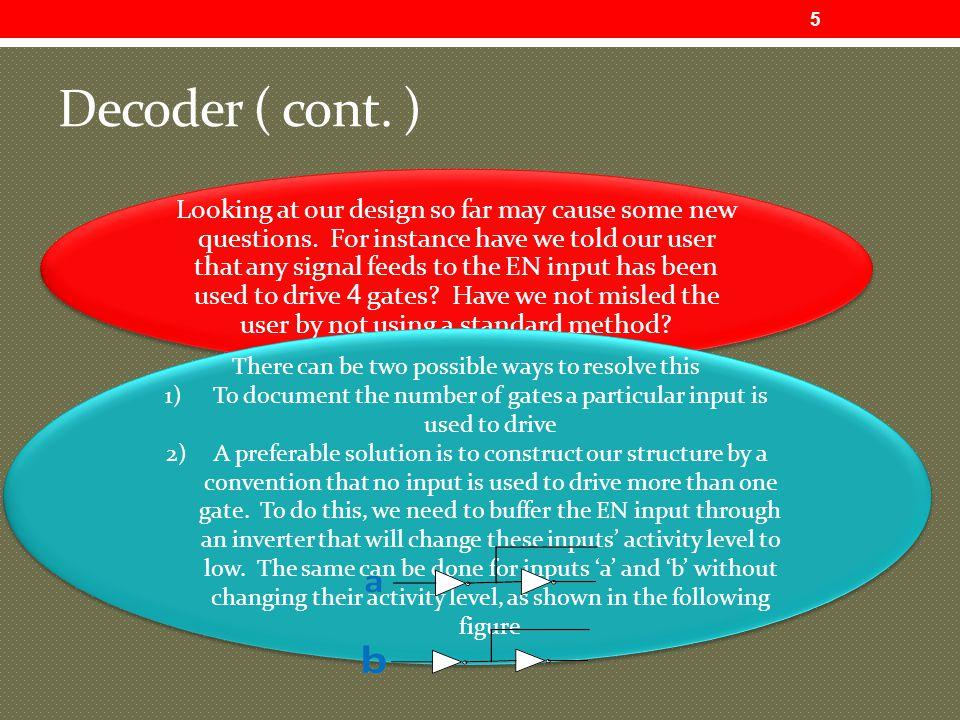 Decoder ( cont. )