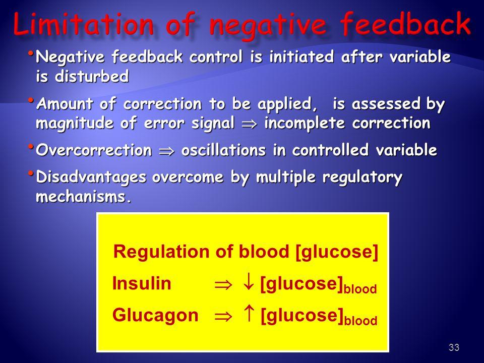 Limitation of negative feedback