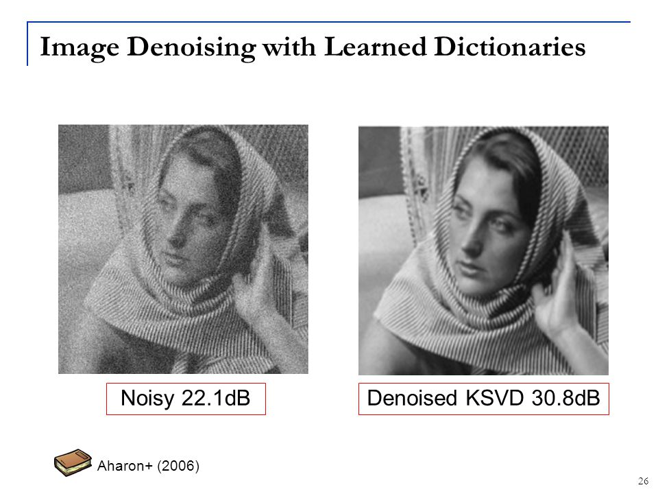 Image Denoising with Learned Dictionaries