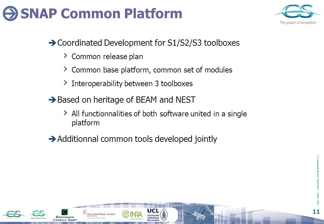 SNAP Common Platform Coordinated Development for S1/S2/S3 toolboxes