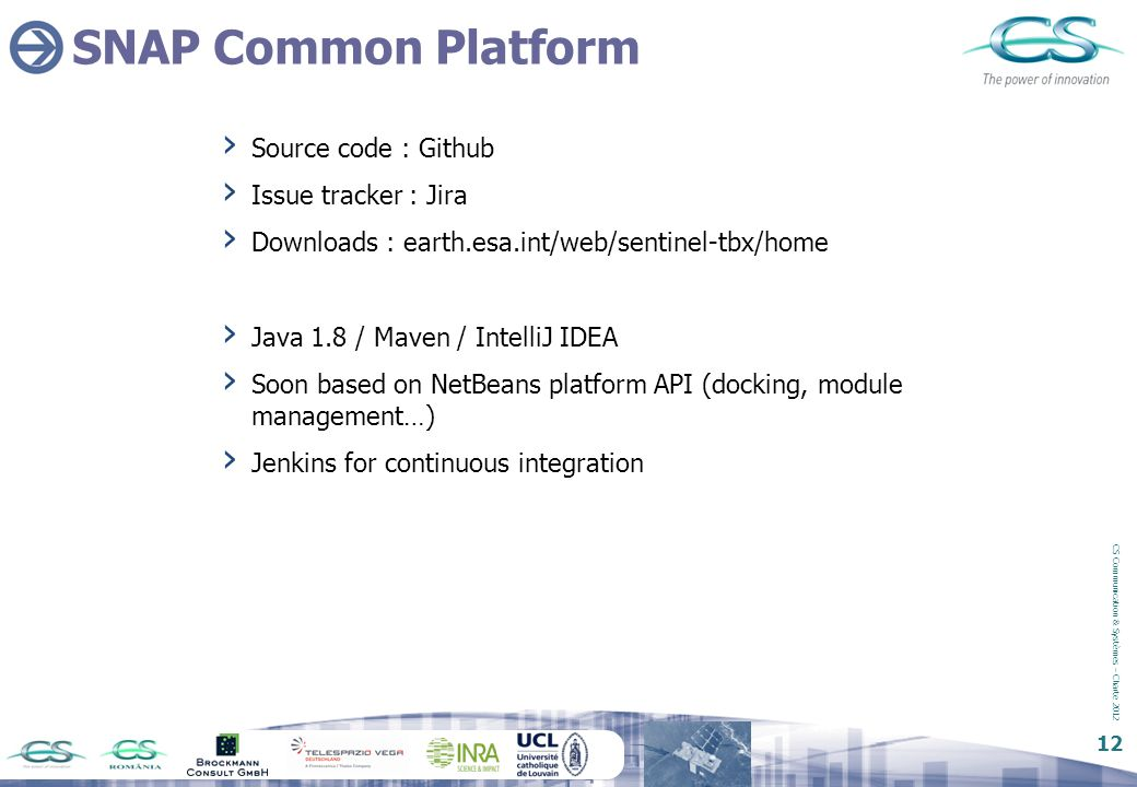 SNAP Common Platform Source code : Github Issue tracker : Jira