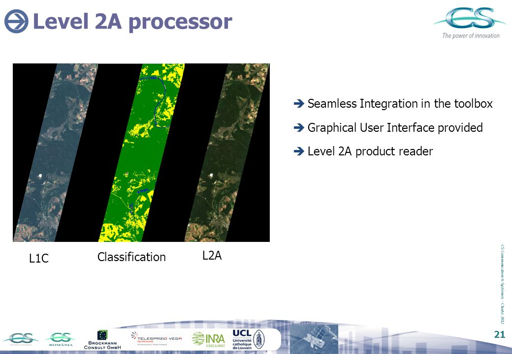 Level 2A processor Seamless Integration in the toolbox