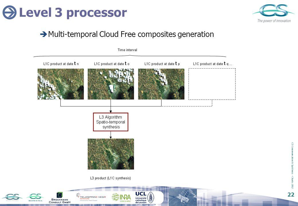 Level 3 processor Multi-temporal Cloud Free composites generation