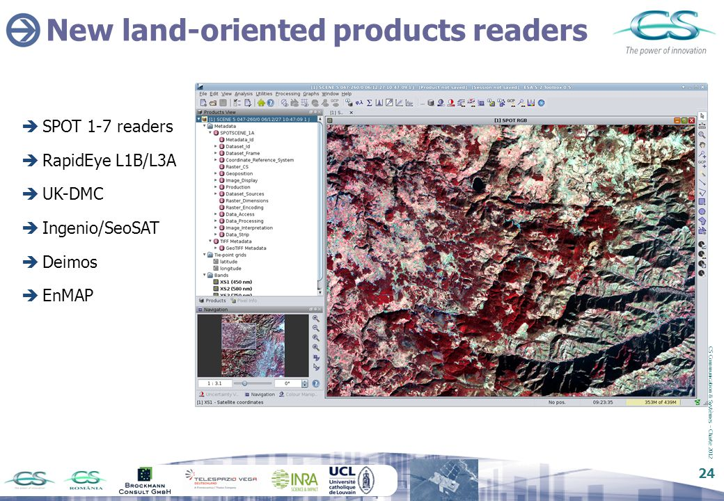New land-oriented products readers
