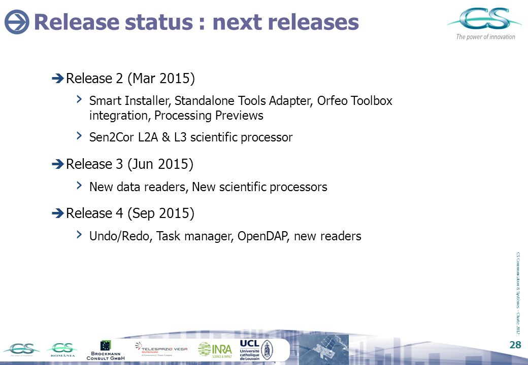Release status : next releases