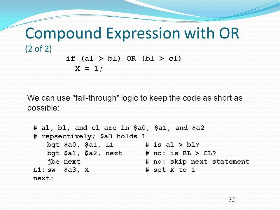 Compound Expression with OR (2 of 2)
