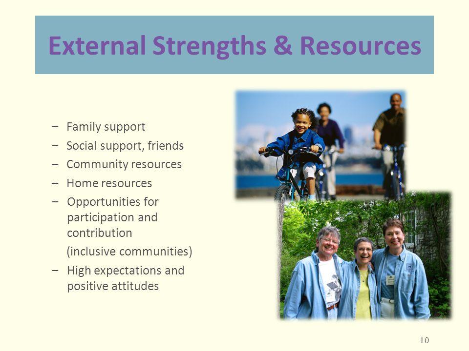 External Strengths & Resources