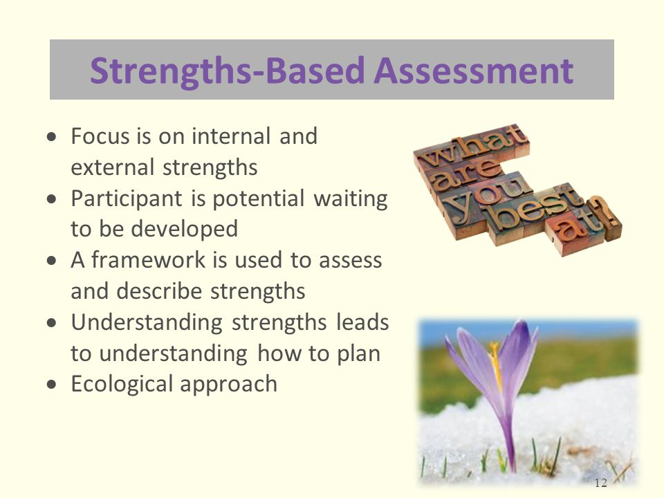 Strengths-Based Assessment