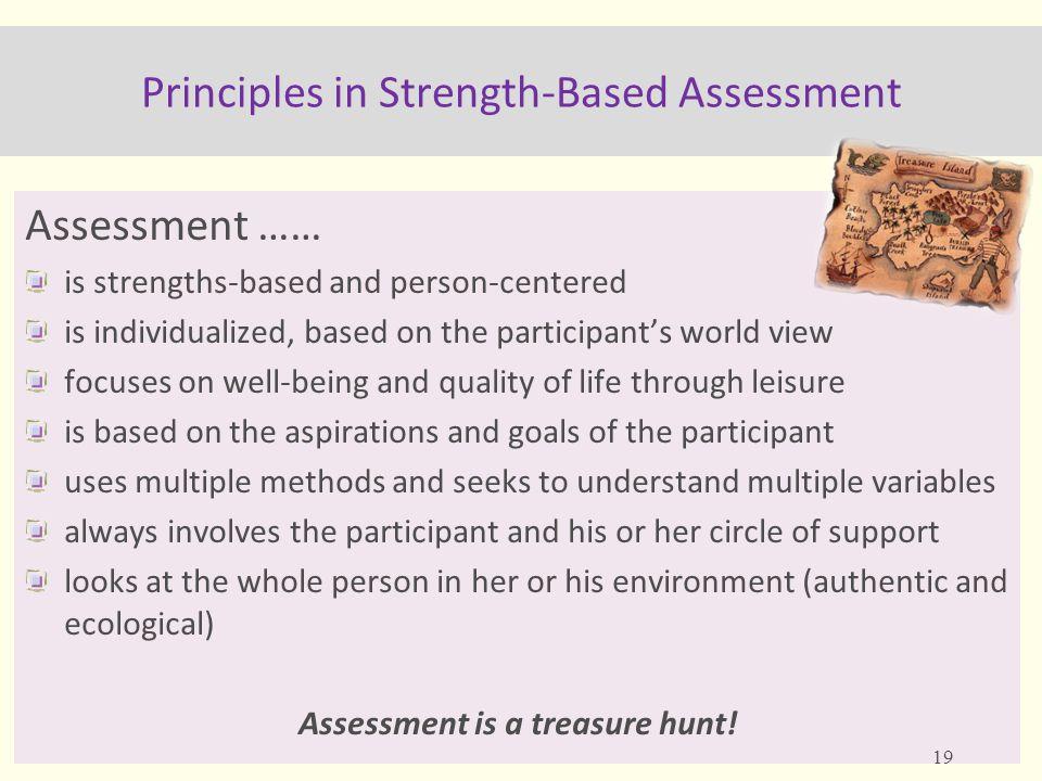 Principles in Strength-Based Assessment