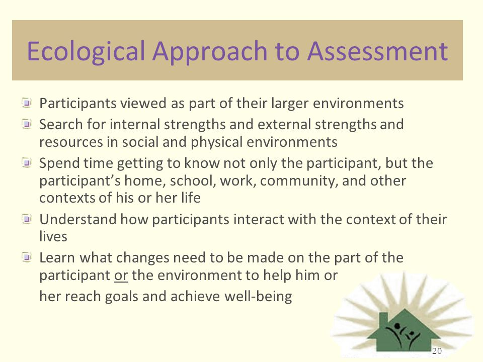 Ecological Approach to Assessment