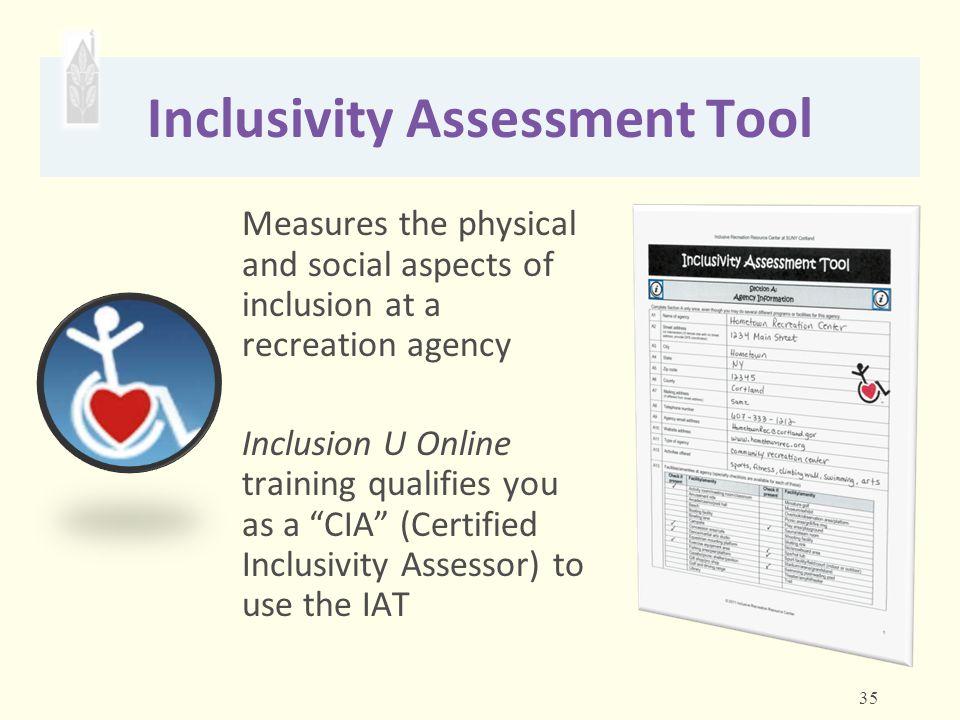 Inclusivity Assessment Tool