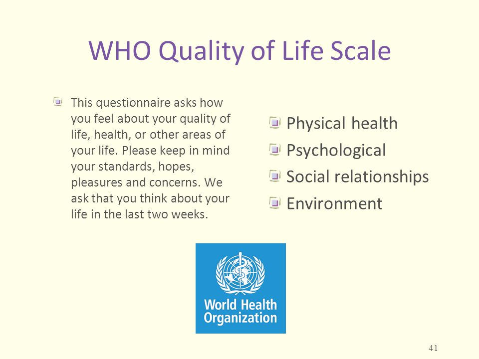 WHO Quality of Life Scale