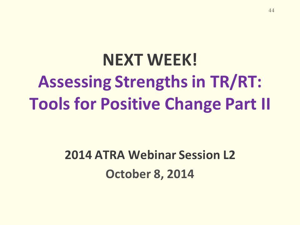 2014 ATRA Webinar Session L2 October 8, 2014