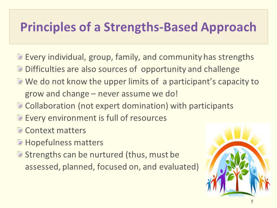 Principles of a Strengths-Based Approach
