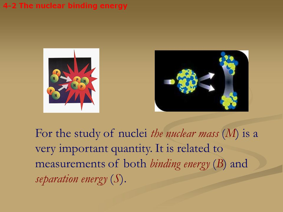 4-2 The nuclear binding energy