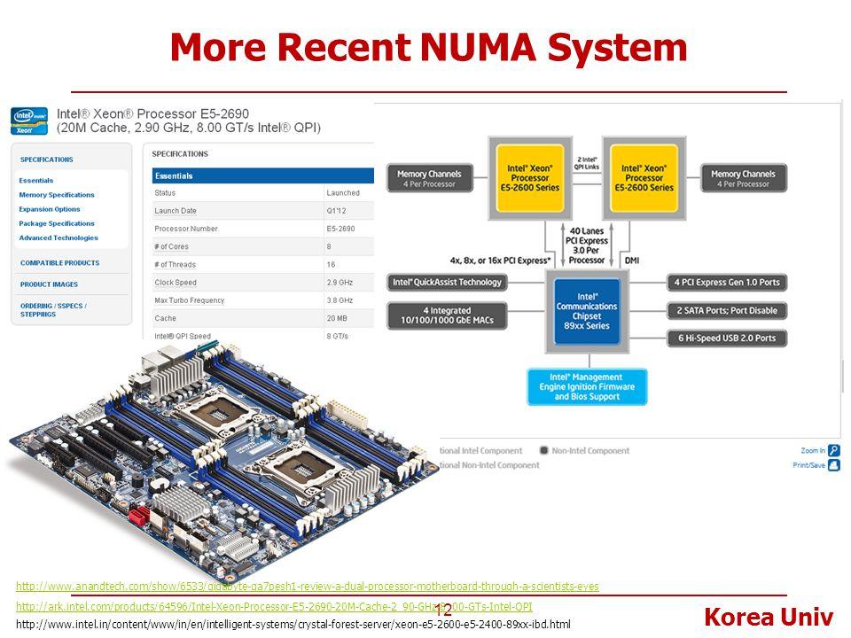 More Recent NUMA System