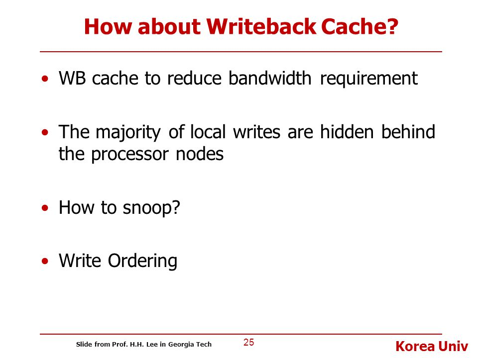 How about Writeback Cache