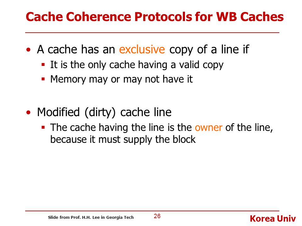 Cache Coherence Protocols for WB Caches