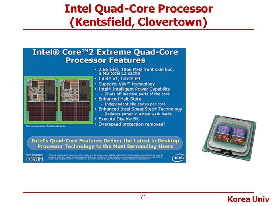 Intel Quad-Core Processor (Kentsfield, Clovertown)