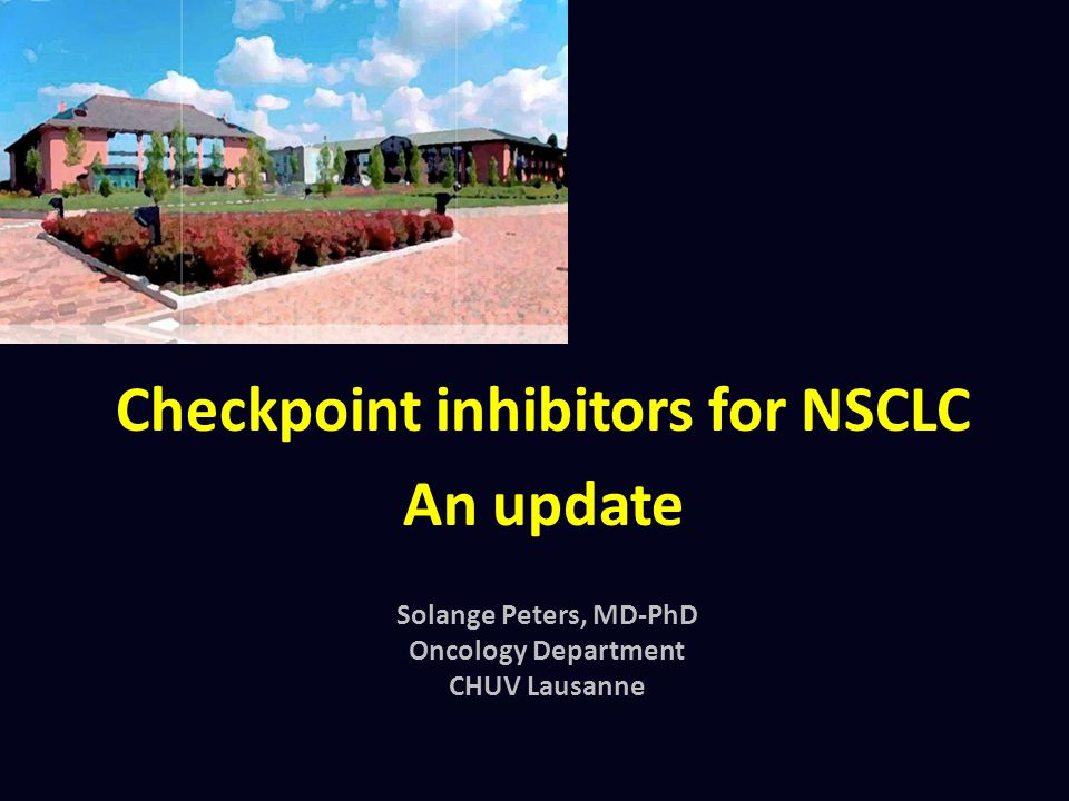 Checkpoint inhibitors for NSCLC