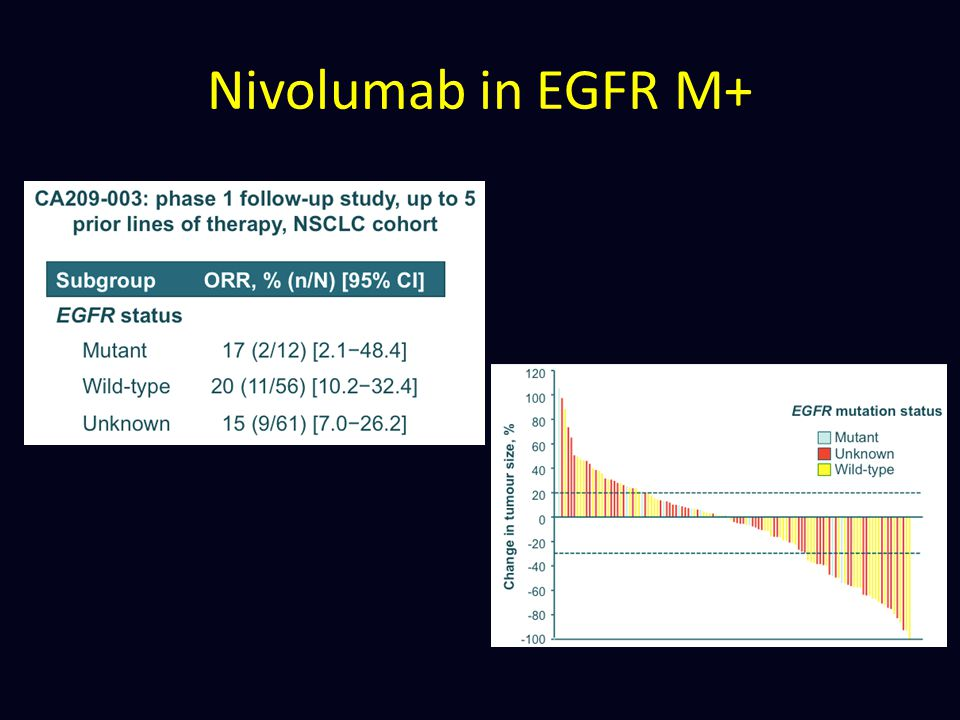 Nivolumab in EGFR M+