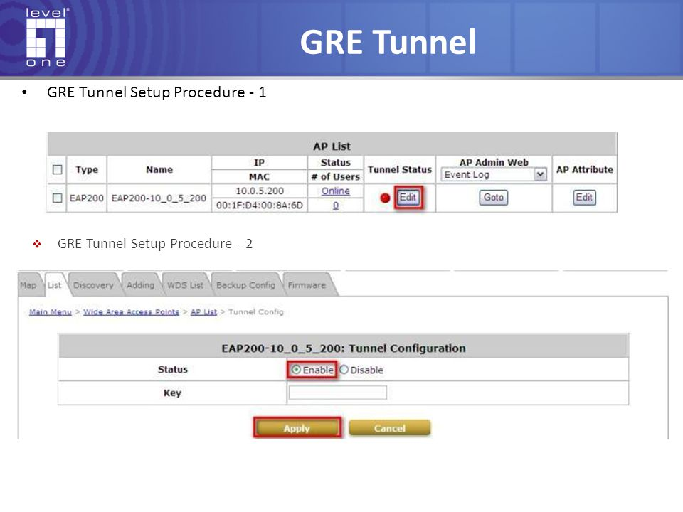 GRE Tunnel GRE Tunnel Setup Procedure - 1
