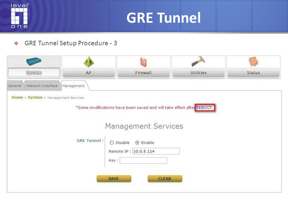 GRE Tunnel GRE Tunnel Setup Procedure - 3