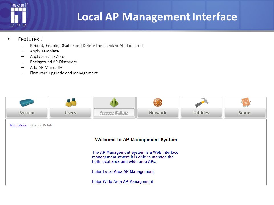 Local AP Management Interface