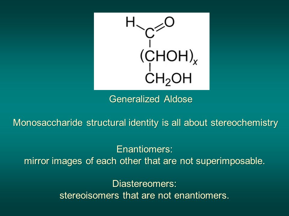 Monosaccharide structural identity is all about stereochemistry