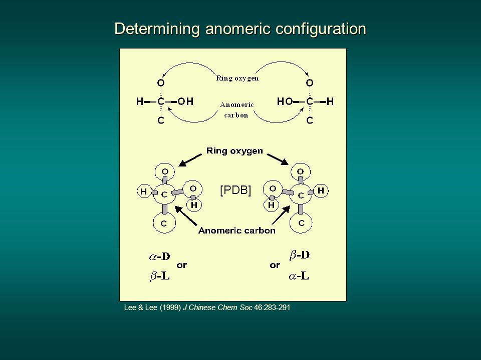 Determining anomeric configuration