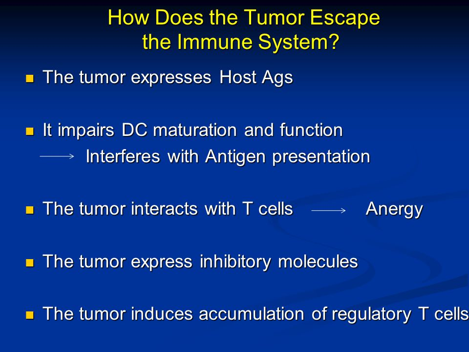 How Does the Tumor Escape the Immune System