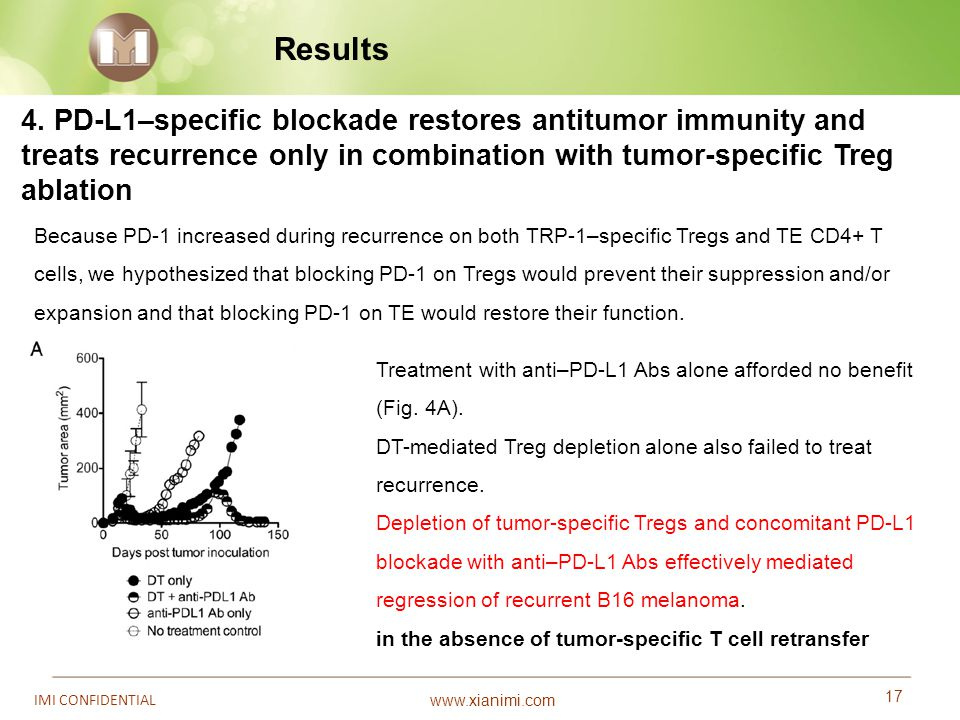 Results 4. PD-L1–specific blockade restores antitumor immunity and