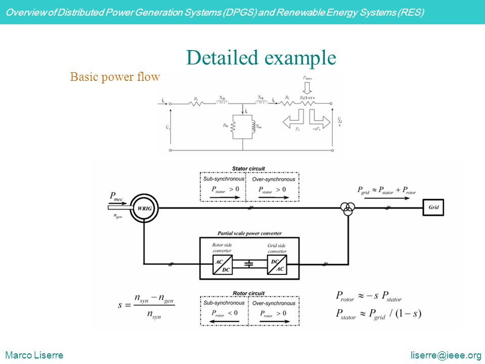 Detailed example Basic power flow.