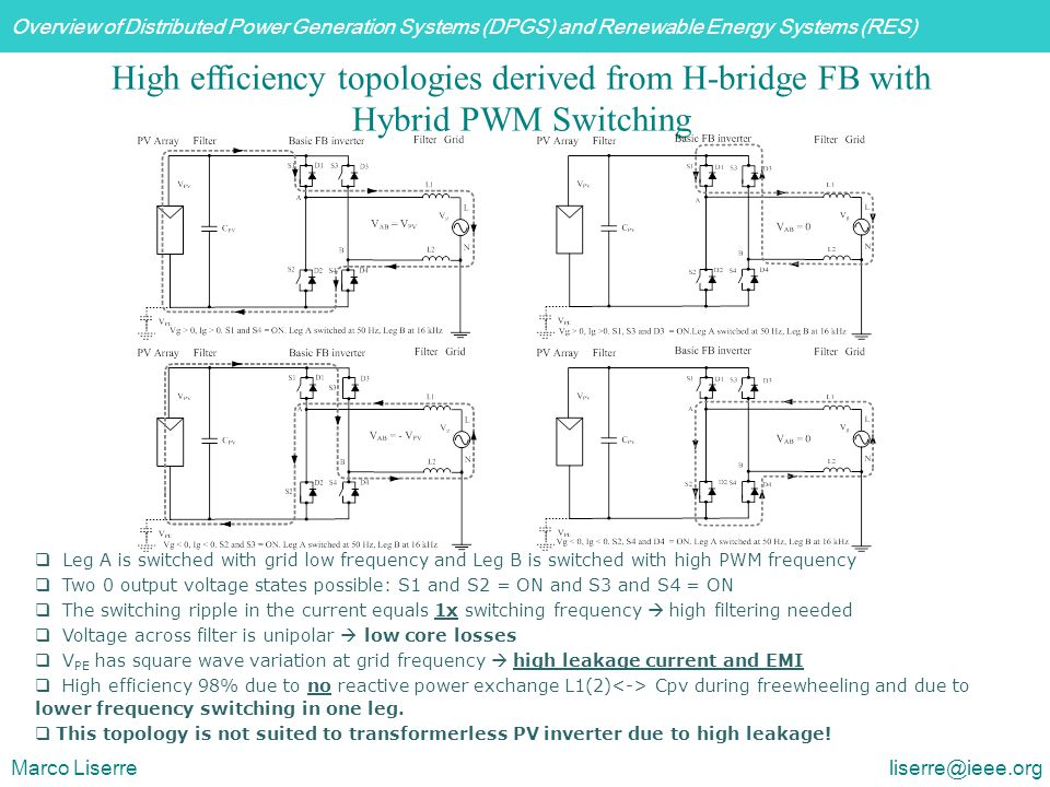 High efficiency topologies derived from H-bridge FB with Hybrid PWM Switching