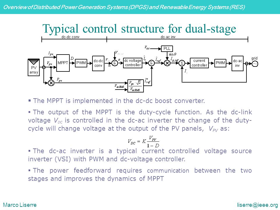 Typical control structure for dual-stage PV inverter