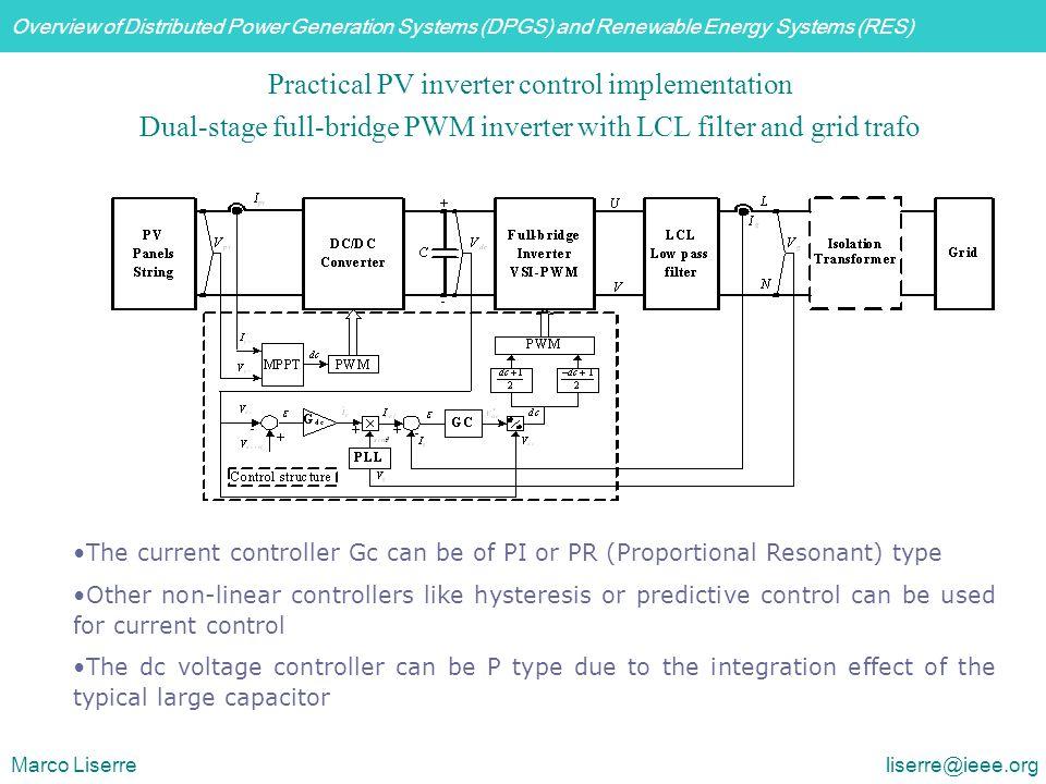 Practical PV inverter control implementation