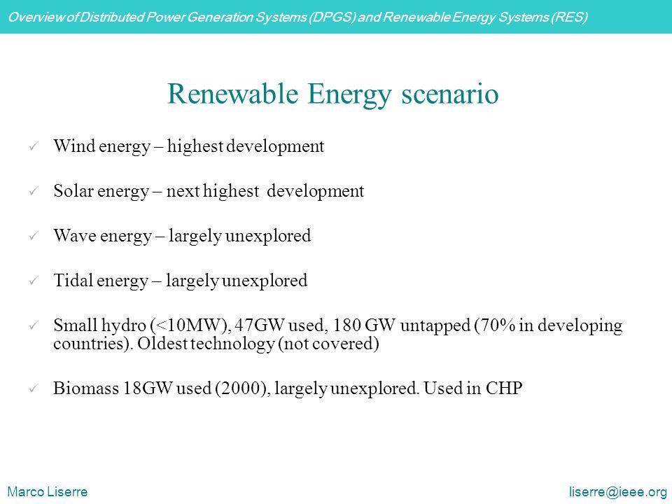Renewable Energy scenario